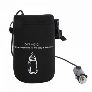 Cigarette lighter bottle warmer