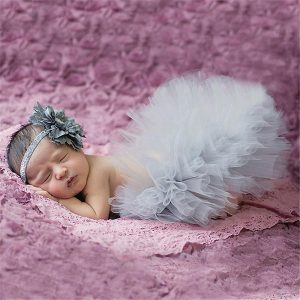 newborn photography skirt and headband