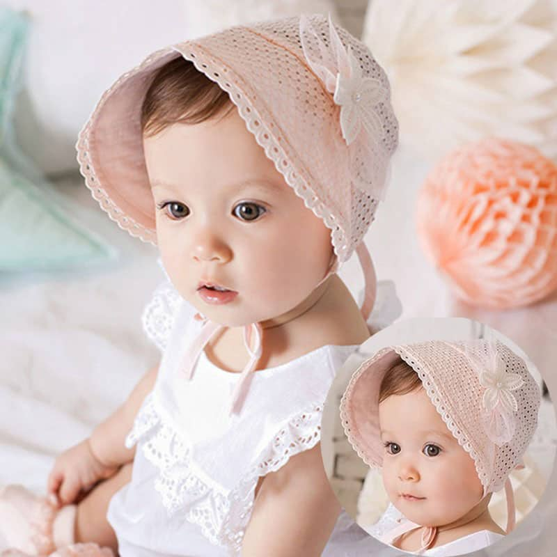b9154ac7e Spring Summer Cute Baby Princess Retro Hat With Bow