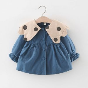 Sweet Autumn Windbreaker Baby Girl Coat