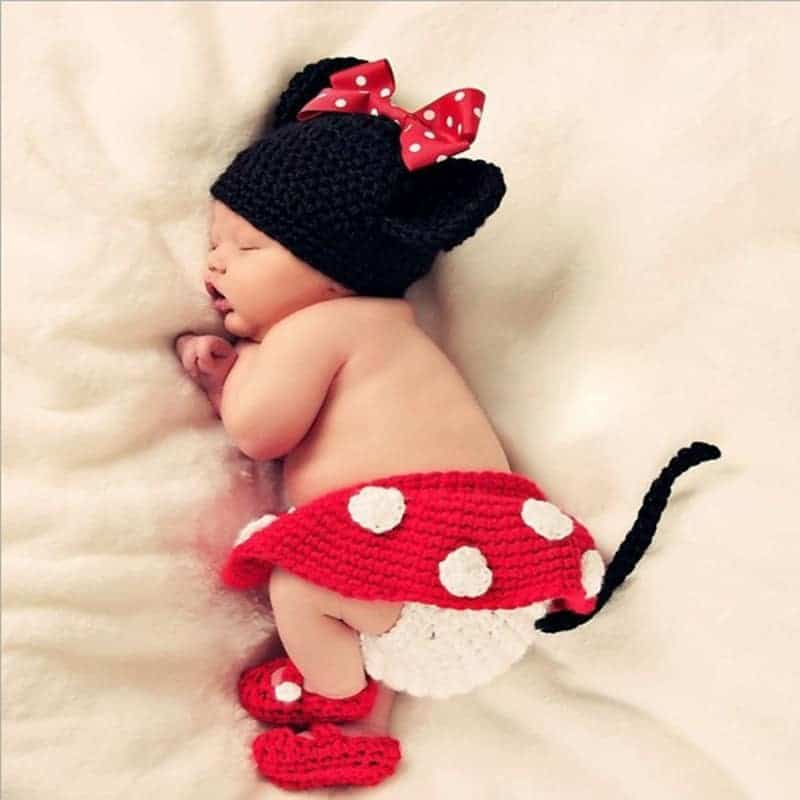 Minnie mouse baby photo shoot