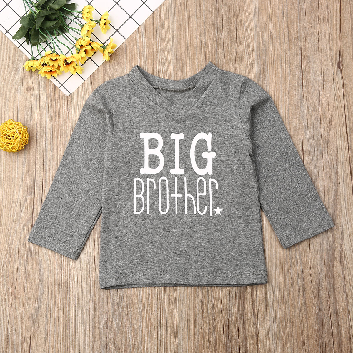Big Brother T-shirt & Little Brother Romper Matching Set